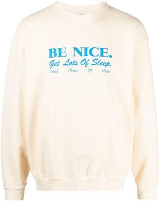 Sporty & Rich Slogan-Print Sweatshirt