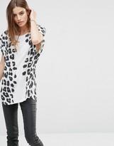 Diesel - T-shirt imprim lopard