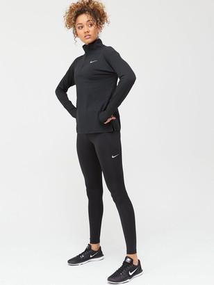Nike Running Long Sleeve Element Zip Top - Black