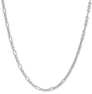 """Carolyn Pollack Figaro Link 18"""" Chain Necklace in Sterling Silver"""