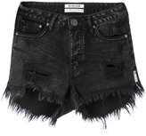 One Teaspoon frayed denim shorts - women - Cotton - 24