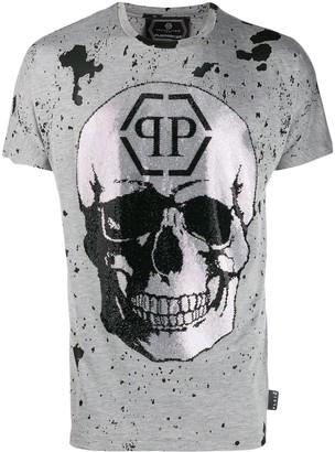 Philipp Plein skull logo print T-Shirt