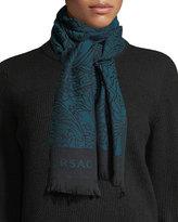 Versace Intricate Medusa Wool Scarf