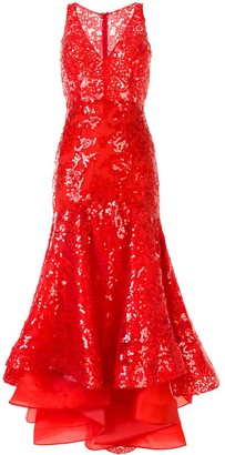 Silvia Tcherassi Daisy sequi-embellished asymmetric dress