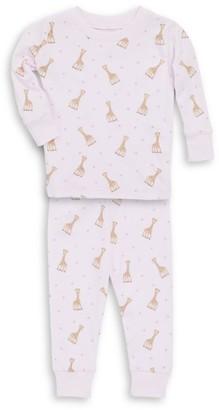 Kissy Kissy Baby Girl's & Little Girl's Two-Piece Sophie La Girafe Pajama Top & Pants Set