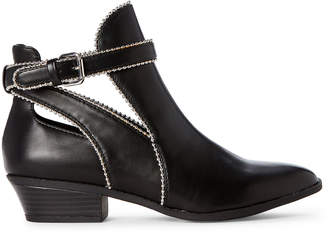 BCBGeneration Black Winona Studded Ankle Booties