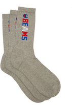 CHAMPION X BEAMS Set of three ribbed cotton-blend socks