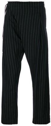 TAKAHIROMIYASHITA TheSoloist. Raw Hem Pinstripe Trousers