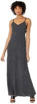 Moschino Polka Dot Maxi Dress (Black Multi) Women's Clothing