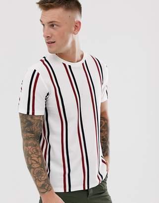 Topman t-shirt in black & white stripe