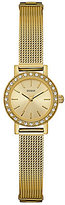GUESS Petite Analog Stainless Steel Mesh Bracelet Watch