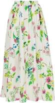 MDS STRIPES Floral Maxi Skirt
