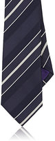 Ralph Lauren Purple Label Men's Striped Silk Necktie-NAVY