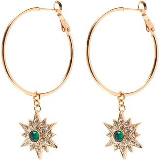 Anton Heunis 'Star' crystal embellished hoop earrings
