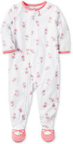 Carter's 1-Pc. Ballet-Print Footed Pajamas, Baby Girls (0-24 months)