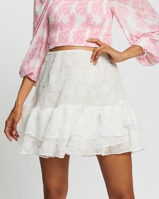 Glamorous Textured Tier Skirt