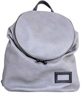 Andrea Incontri Grey Leather Backpack