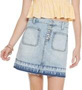 So Juniors' SO Exposed Button Denim Skirt