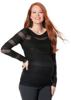 A Pea in the Pod BCBG Long Sleeve Crew Neck Lace Maternity Top