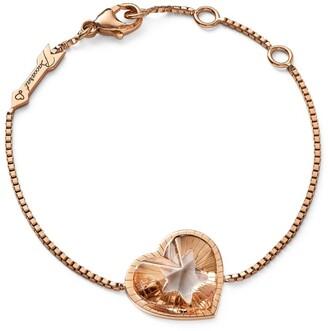 Baccarat Rose Gold Vermeil and Crystal Etoile de Mon Coeur Chain Bracelet