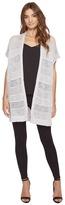Michael Stars Cotton Slub Short Sleeve Duster Women's Clothing