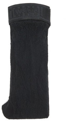 Wolford Phyllis Lace Tights - Black