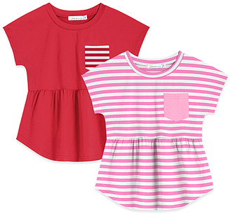 Basics by Sunshine Swing Girls' Tee Shirts - Red Pocket Tee Set - Toddler & Girls