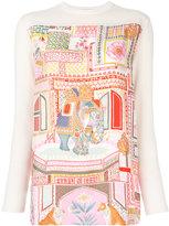 Salvatore Ferragamo printed silk jumper - women - Silk/Virgin Wool - S