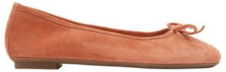 Sandler Alexa Orange Suede Flat Shoes