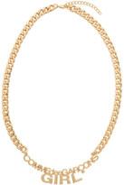 Comme des Garcons Gold Logo Necklace