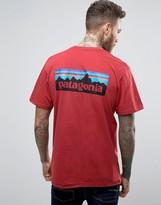 Patagonia P-6 Back Logo T-shirt Regular Fit In Red