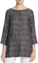 Eileen Fisher Woven Button Front Tunic