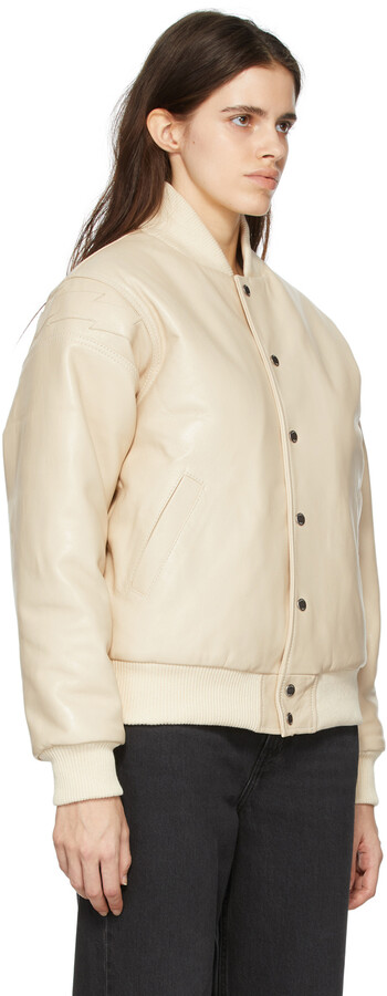 Thumbnail for your product : Rhude Beige Leather Speedster Bomber Jacket