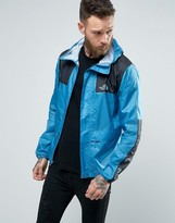 The North Face 1985 Mountain Jacket Hooded In Blue Rain Print