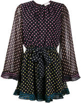 Zimmermann multi polka dot playsuit