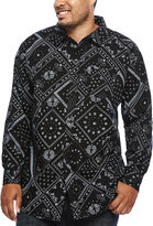 Zoo York Long-Sleeve Patchwork Woven Shirt - Big & Tall