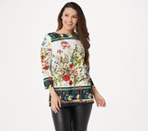 Linea By Louis Dell'olio by Louis Dell'Olio Floral Printed Woven Top