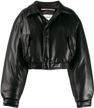 Nanushka cropped bomber jacket