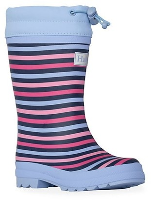 Hatley Baby's, Little Girl's & Girl's Striped Sherpa Lined Rain Boots