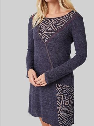 M&Co Izabel patchwork detail long sleeve dress