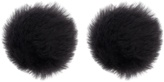 Balenciaga Fur button earrings