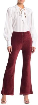 Elodie K High Waist Zip Front Corduroy Pants