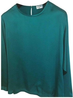 Chanel Green Silk Top for Women