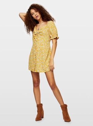 Miss Selfridge PETITE OchreTea Dress