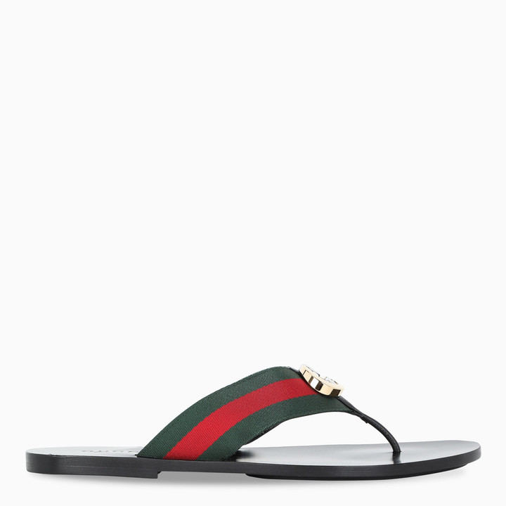 Gucci Flip-flops with Web tape
