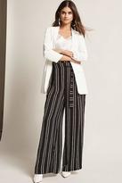 Forever 21 Self-Tie Stripe Wide-Leg Pants