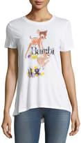 David Lerner Bambi Short-Sleeve Graphic Tee, White