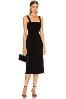 Cushnie Sleeveless Midi Fit and Flare Dress in Black | FWRD