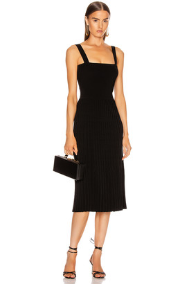 Cushnie Sleeveless Midi Fit and Flare Dress in Black | FWRD