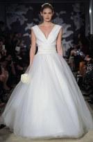 Carolina Herrera Women's 'Chloe' V-Neck Georgette & Tulle Ballgown